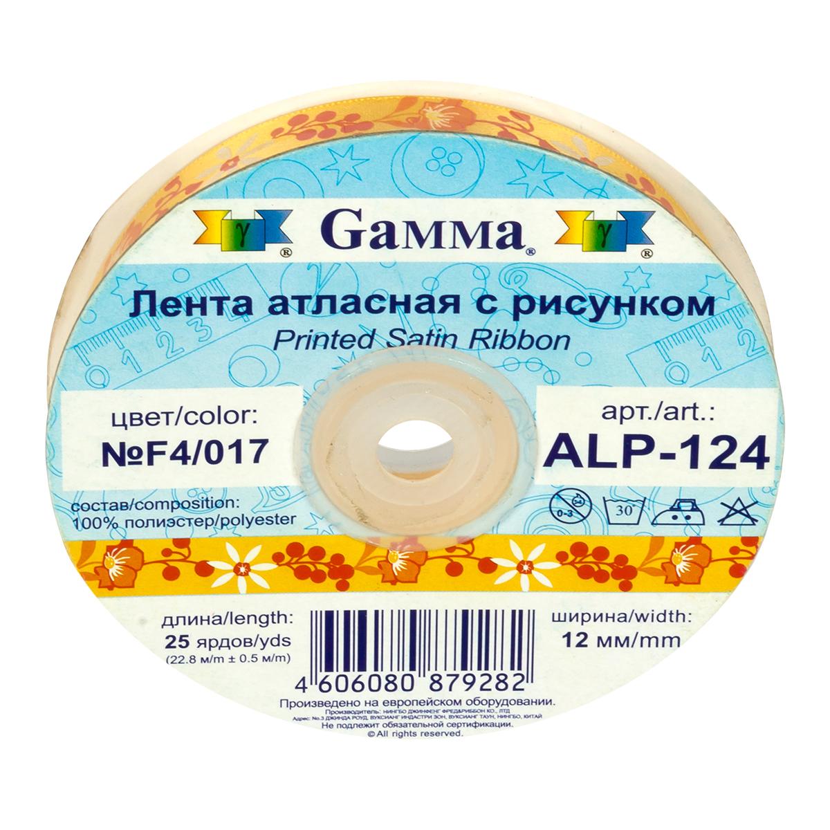 Атласная лента с нанесенным печатным рисунком.  Применяется в качестве декоративной отделки детской и женской одежды.