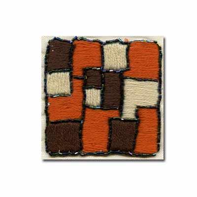 Купить Нашивка Декоративное украшение пришивное квадрат вышитый с бисером 1 шт.