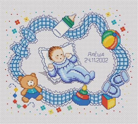 """Набор для вышивания  """"Малыш """" * Техника: счетный крест * Артикул: Д-110 * Размер:24 х 20 см. Состав набора."""