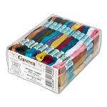 "Нитки для вышивания  ""GAMMA "" набор мулине 3 х/б 100 x 8 м Та Ассорти-100 цветов."